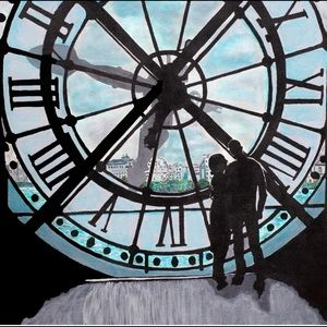 """Canvas print of the Clock 12""""x 12"""""""